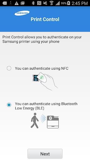 Samsung Mobile Print Control