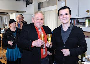 Photo: Veranstaltung am 29.3.2014 (Finissage Zeininger, Jour fixe. . Charlotte Pohl, Franz Windisch, Anton Cupak, Andre Comploi.  Foto: Axel Zeininger