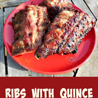 Ribs with Quince Barbecue Sauce