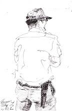 Photo: 叉手2012.05.25鋼筆 同事臭嘴仔總是習慣叉著手…