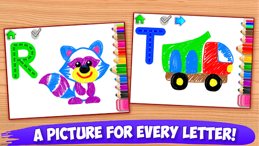 ABC DRAW ud83cudfa8 Kids Drawing! Alphabet Games Preschool  screenshots 16