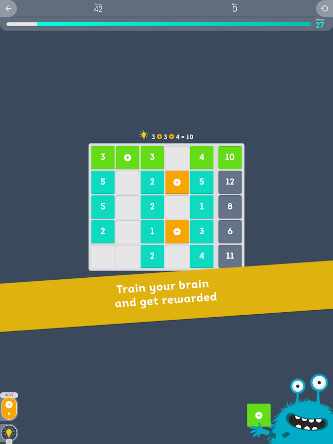 Cruncher - Number Brain Teaser- screenshot