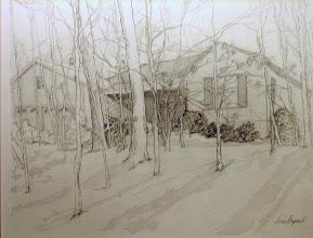 Photo: House Portrait . graphite . 8x10