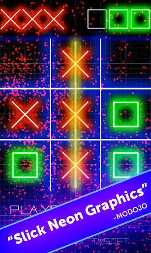 Tic Tac Toe Glow by TMSOFT screenshot 1