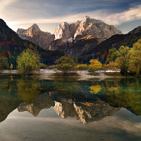 Autumn reflections by Aleš Komovec - Landscapes Mountains & Hills
