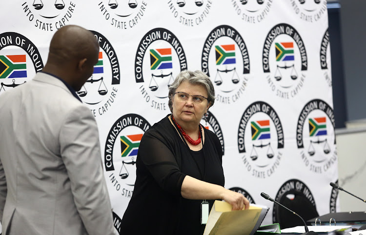 Former public enterprises minister Barbara Hogan at the state capture inquiry in Parktown, Johannesburg, on November 14 2018.