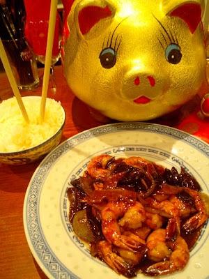 Crevettes aux champignons noirs et bambous