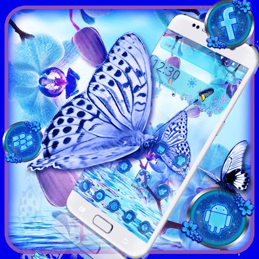 Blue Flower Butterfly Theme