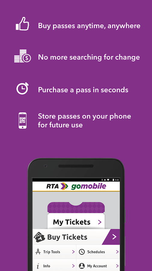RTA gomobile- screenshot