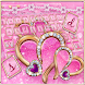 Sparkling Pink Love Heart Keyboard