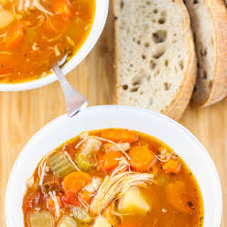 Zesty Crock Pot Chicken and Potato Stew.