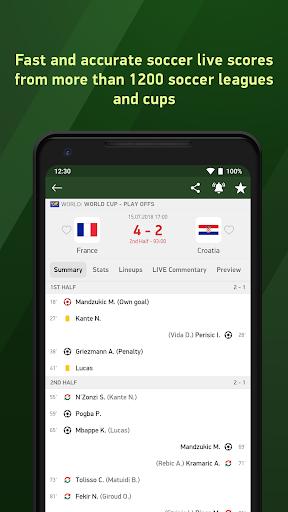 Soccer 24 - soccer live scores  screenshots 1