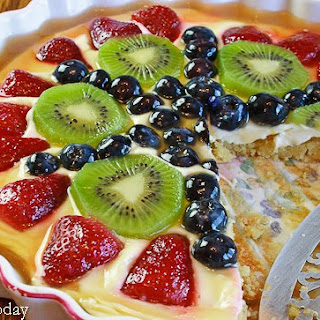 Cream Cheese Fruit Tart with Almond Crust Recipe [GF]