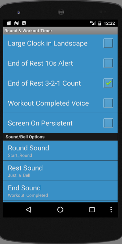 Workout Timer- screenshot