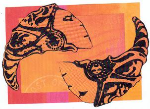 Photo: Wenchkin's Mail Art 366 - Day 121, card 121c