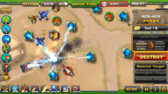 Tower Defense Alien War TD v1.0.8 MOD APK (Unlimited Money)
