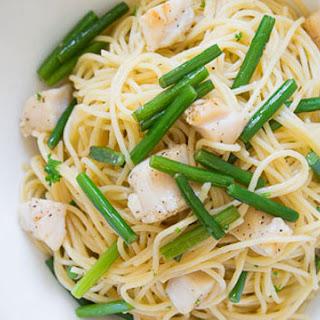 Dry Scallop and Garlic Scape Pasta