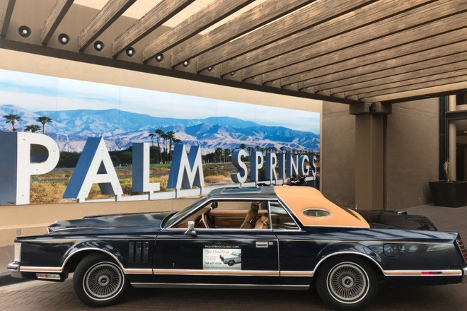 Gorgeous 1977 Lincoln Mark V Hire Palm Springs