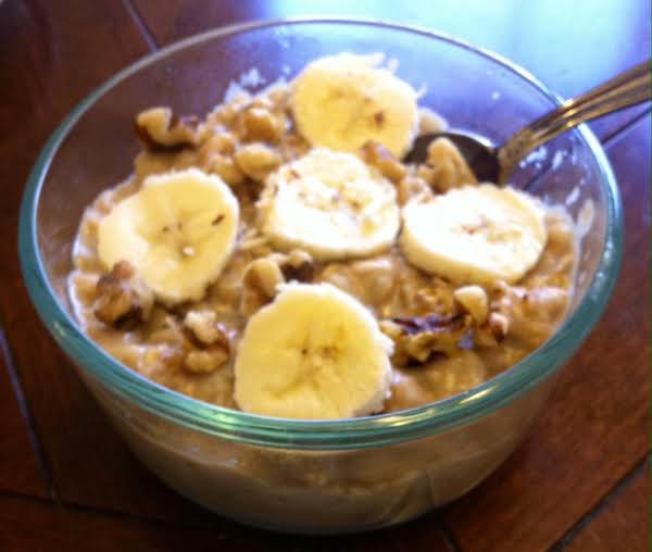 Slow Cooker Banana Walnut Or Pecan Oatmeal Recipe