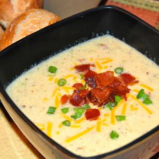 Bacon Cheddar Cauliflower Chowder.