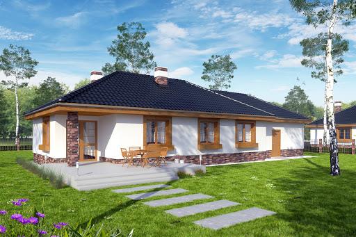 projekt Filipek z garażem 2-st. A1