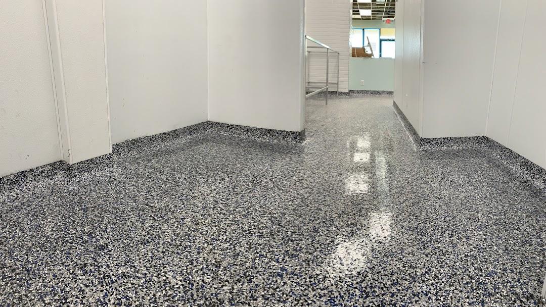 Satin Finish Concrete Epoxy Flooring Installers Terrazzo