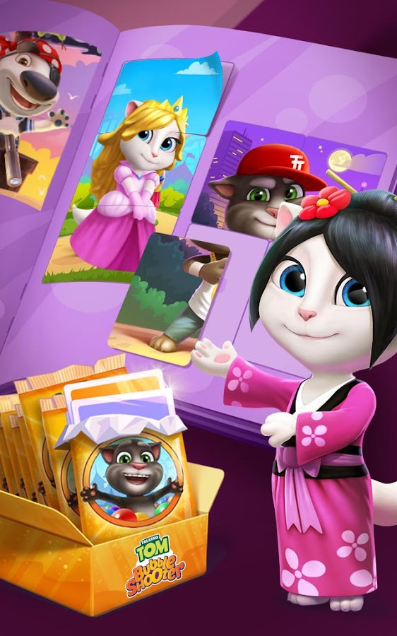 Screenshots of Talking Tom Bubble Shooter for iPhone