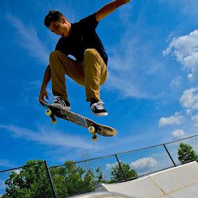 Air Will  by Clark Crosser - Sports & Fitness Skateboarding ( #skate park, #shredd, #bigair, #indy, #summer,  )