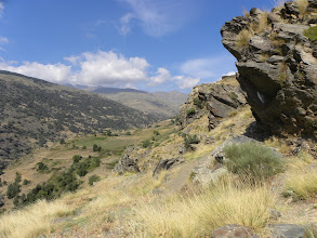 Photo: Barranco de Poqueria looking toward Le Cebadilla where the Rivers Naute and Torri Converge