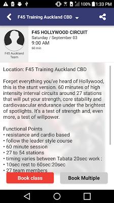 F45 Training - screenshot