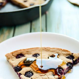 Giant Blueberry Skillet Pancake | Vegan & Gluten-Free
