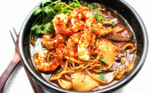 Grilled Prawn Noodles Soup 福建烤虾面