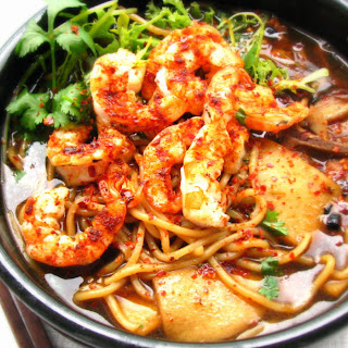 Grilled Prawn Noodles Soup 福建烤虾面.