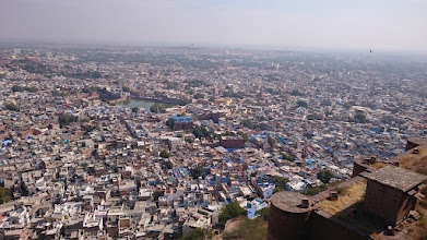 Photo: jodhpur, the blue city as seen from the fort