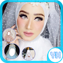 Hijab Beautiful Wedding Photo Frames icon