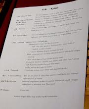 Photo: Dinner menu 晚餐很貼心的給我們英文菜單