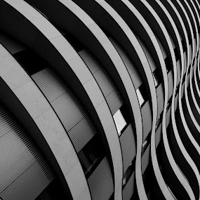 Riverwalk House by DJ Cockburn - Buildings & Architecture Other Exteriors ( grayscale, home, england, monochrome, tower block, london, black and white, residential, millbank, sw1p 4rr, block of flats, architecture, apartment block, river thames,  )
