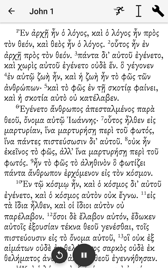 Greek New Testament Reader- screenshot