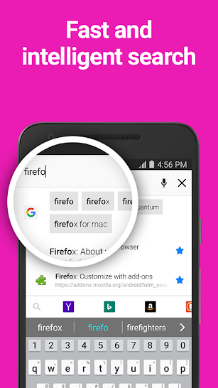 Firefox Browser fast & private screenshot for Android