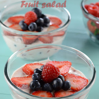 Fesh And Creamy Fruit Salad