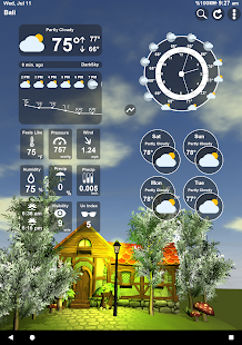 Animiertes 3D Wetter Screenshot