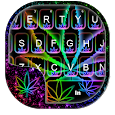 Glow Rasta Weed Keyboard Theme