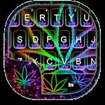 Glow Rasta Weed Keyboard Theme Icon