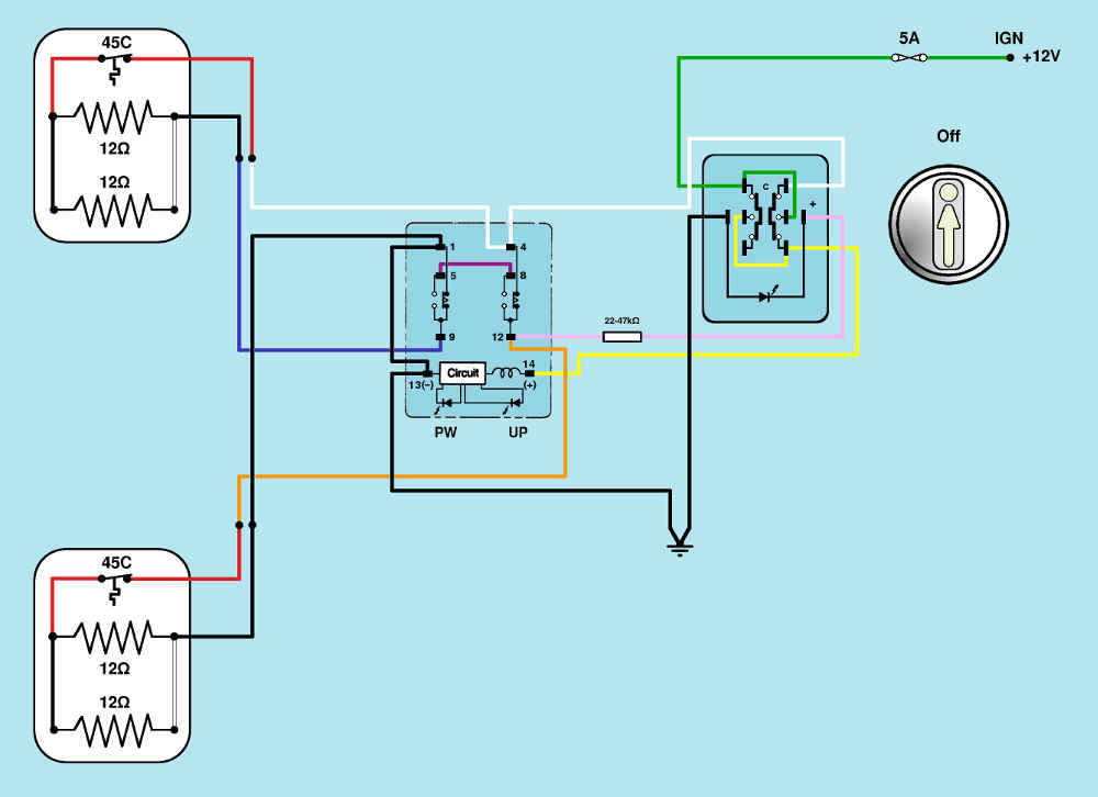 Bedford CF Org View topic Mirror heaters in development – Imt Wiring Diagram