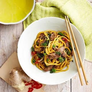 Mongolian Lamb Noodles.