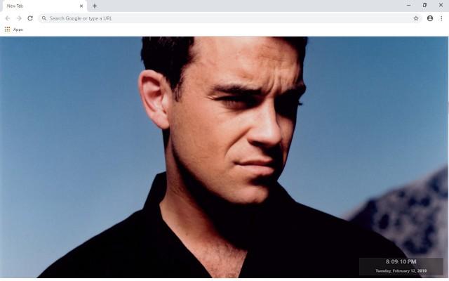 Robbie Williams New Tab Theme