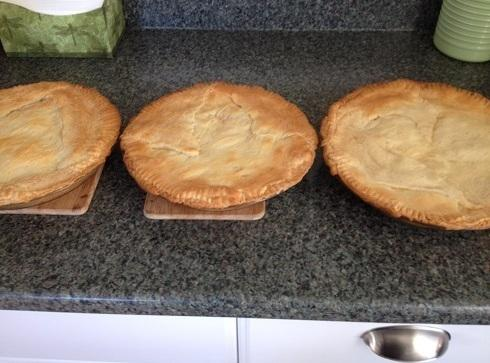 Place all pies ( and trust me when I say you'll need to make...