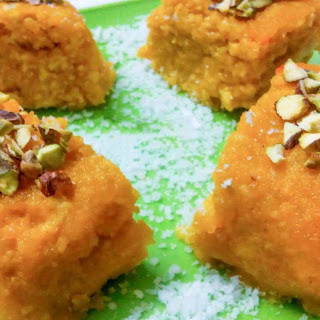 No Bake Rice Mawa Cake Recipe (Burfi Recipe)