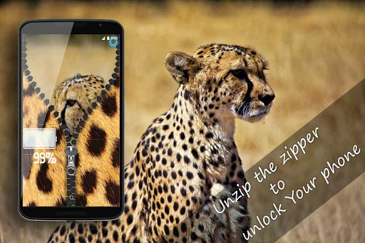 Leopard HD Zipper lock screen