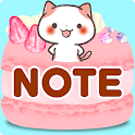"Cute Notepad ""Kansai Cats"" icon"
